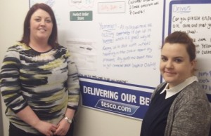 Pictured:  Ann-Marie Rice, Manager with Roisin Farmer at Tesco, Enniskillen