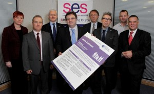 Representatives from each of the SES member organisations at the launch
